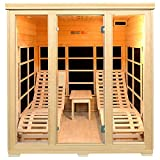 Infrarotkabine/Wärmekabine Billund Dual Heizsystem & Hemlockholz   Infrarotsauna mit 2 Relaxliegen für 2 Personen   ArtSauna