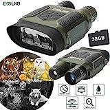 ESSLNB Nachtsichtgerät Jagd Infrarot Digital Fernglas mit Nachtsicht mit 32GB Karte und 8 AA Batterien 7X Vergrößerung 4' LCD Bildschirm 1300 ft/400m Reichweite